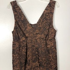 The Limited Burnout Brown Sleeveless Top Size L